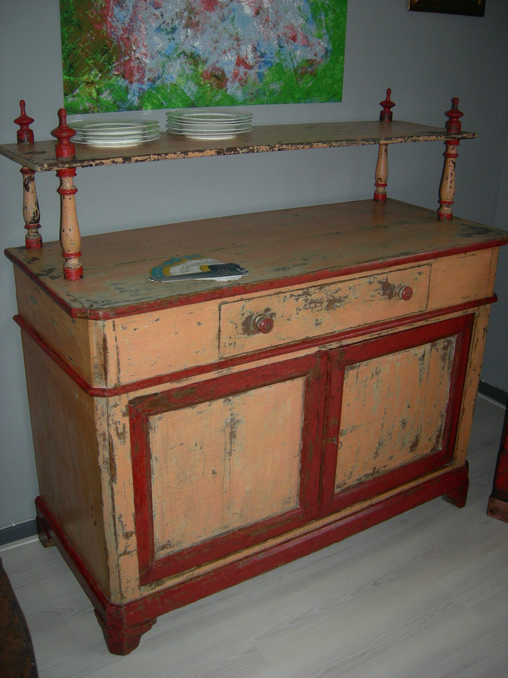 Credenza laccata con piattaia restauratore a macerata - Restauro mobili vintage ...